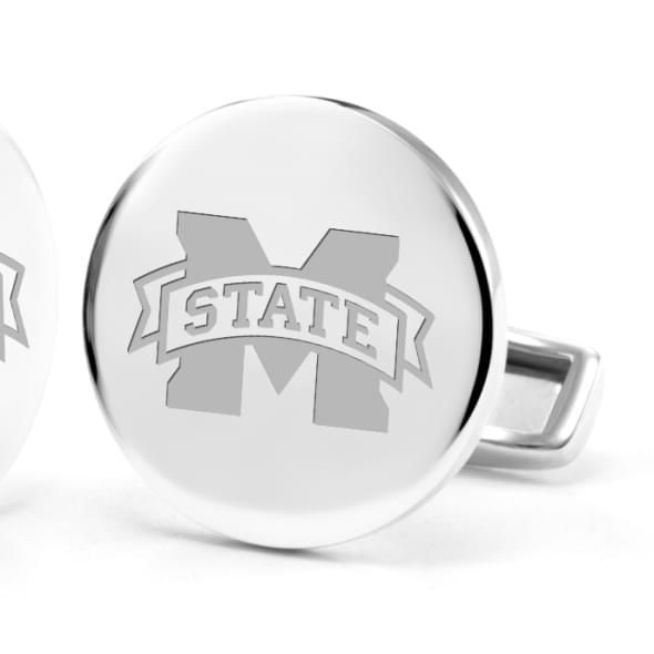 Mississippi State Cufflinks in Sterling Silver - Image 2