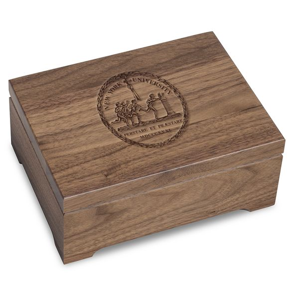 New York University Solid Walnut Desk Box - Image 1