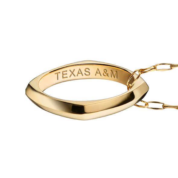 Texas Tech Monica Rich Kosann Poesy Ring Necklace in Gold - Image 3