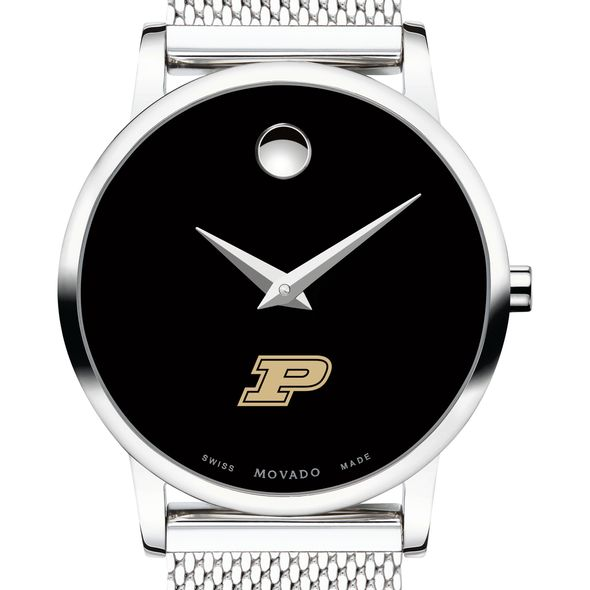 Purdue University Women's Movado Museum with Mesh Bracelet