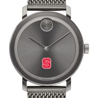 North Carolina State Men's Movado BOLD Gunmetal Grey with Mesh Bracelet