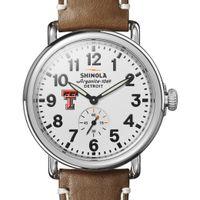 Texas Tech Shinola Watch, The Runwell 41mm White Dial