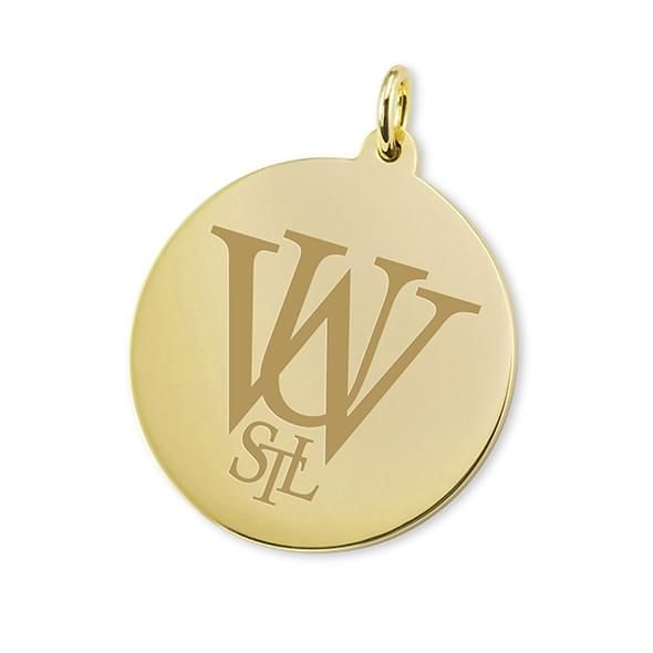 WashU 18K Gold Charm