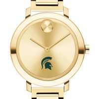 Michigan State University Women's Movado Gold Bold 34