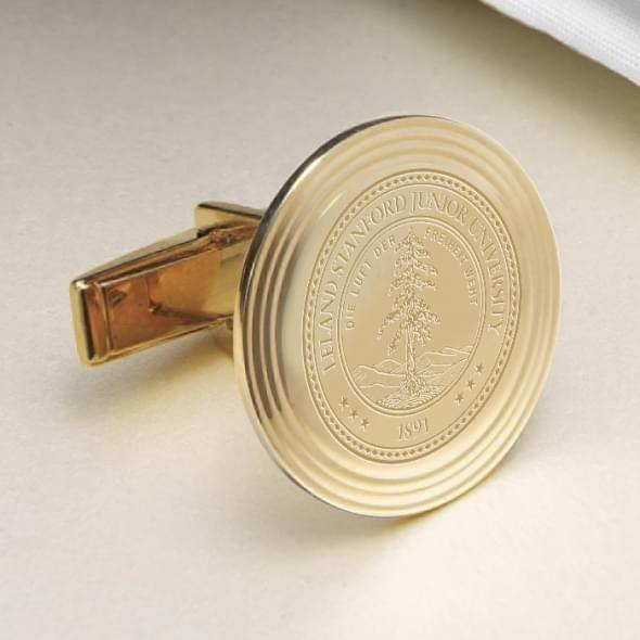 Stanford 18K Gold Cufflinks - Image 2