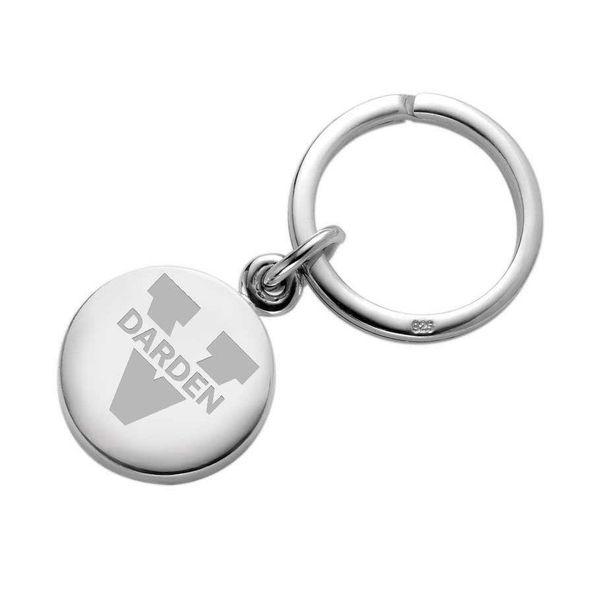 UVA Darden Sterling Silver Insignia Key Ring