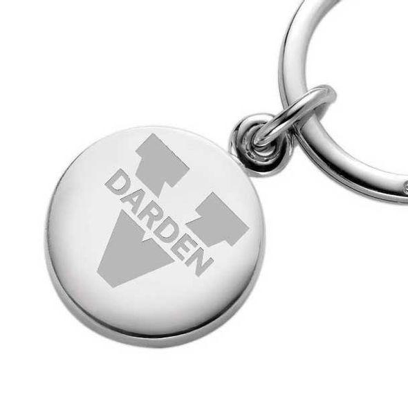 UVA Darden Sterling Silver Insignia Key Ring - Image 2