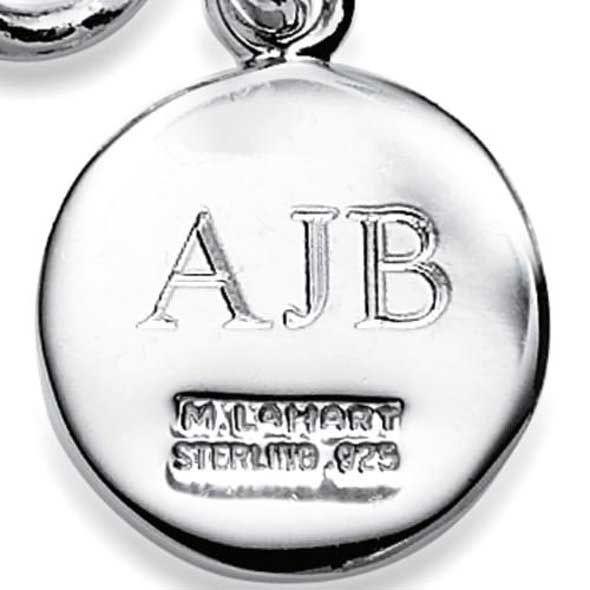 UVA Darden Sterling Silver Insignia Key Ring - Image 3