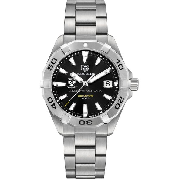 Penn Men's TAG Heuer Steel Aquaracer with Black Dial - Image 2