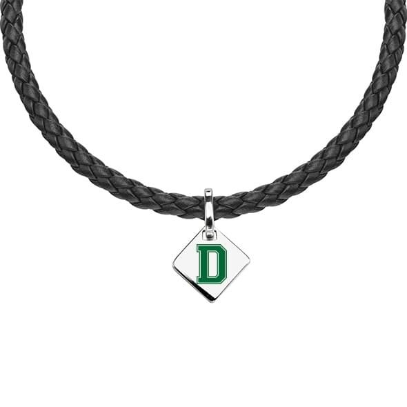 Dartmouth Leather Necklace with Sterling Silver Tag