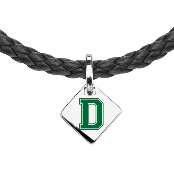 Dartmouth Leather Necklace with Sterling Silver Tag - Image 2