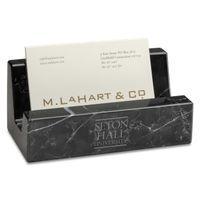 Seton Hall Marble Business Card Holder