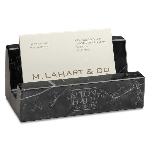 Seton Hall Marble Business Card Holder - Image 1