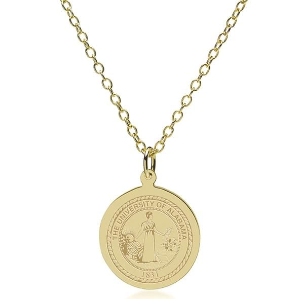 Alabama 18K Gold Pendant & Chain