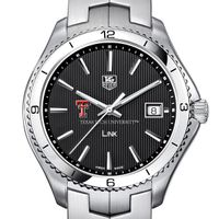 Texas Tech Men's Link Watch with Black Dial