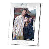 Rice University Polished Pewter 5x7 Picture Frame
