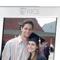 Rice University Polished Pewter 5x7 Picture Frame - Image 2