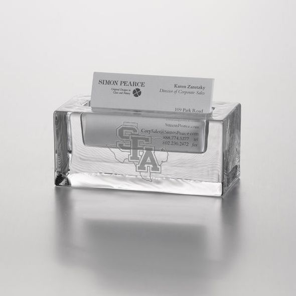 SFASU Glass Business Cardholder by Simon Pearce