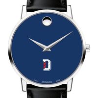 Davidson College Men's Movado Museum with Blue Dial & Leather Strap