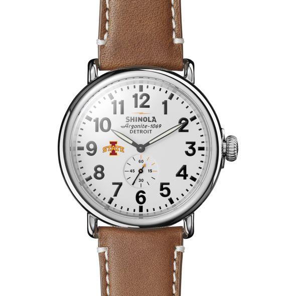 Iowa State Shinola Watch, The Runwell 47mm White Dial - Image 2