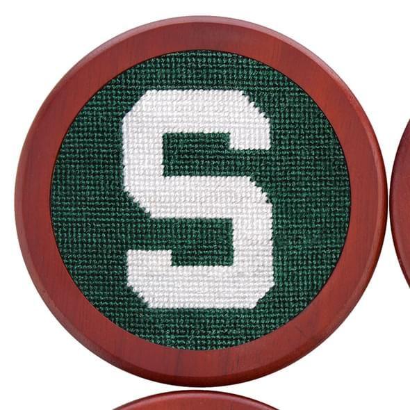 Michigan State Needlepoint Coasters - Image 3