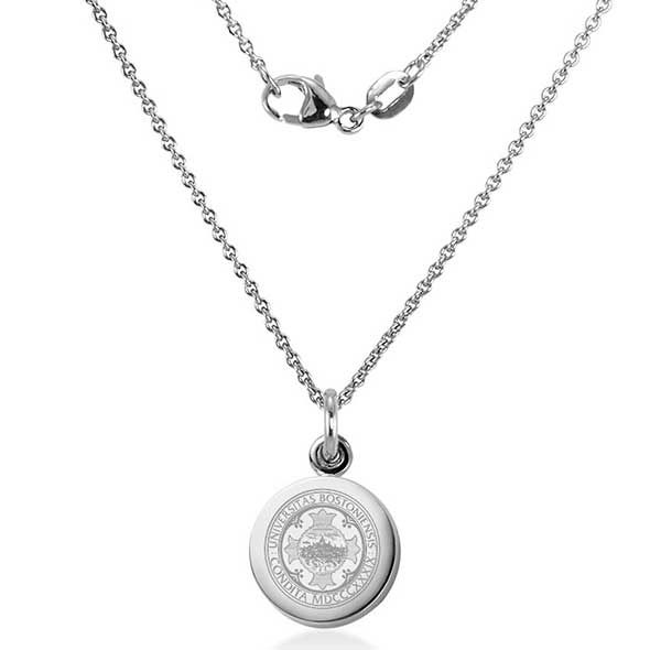Boston University Necklace with Charm in Sterling Silver - Image 2