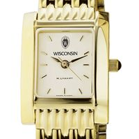 Wisconsin Women's Gold Quad Watch with Bracelet