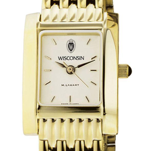 Wisconsin Women's Gold Quad Watch with Bracelet
