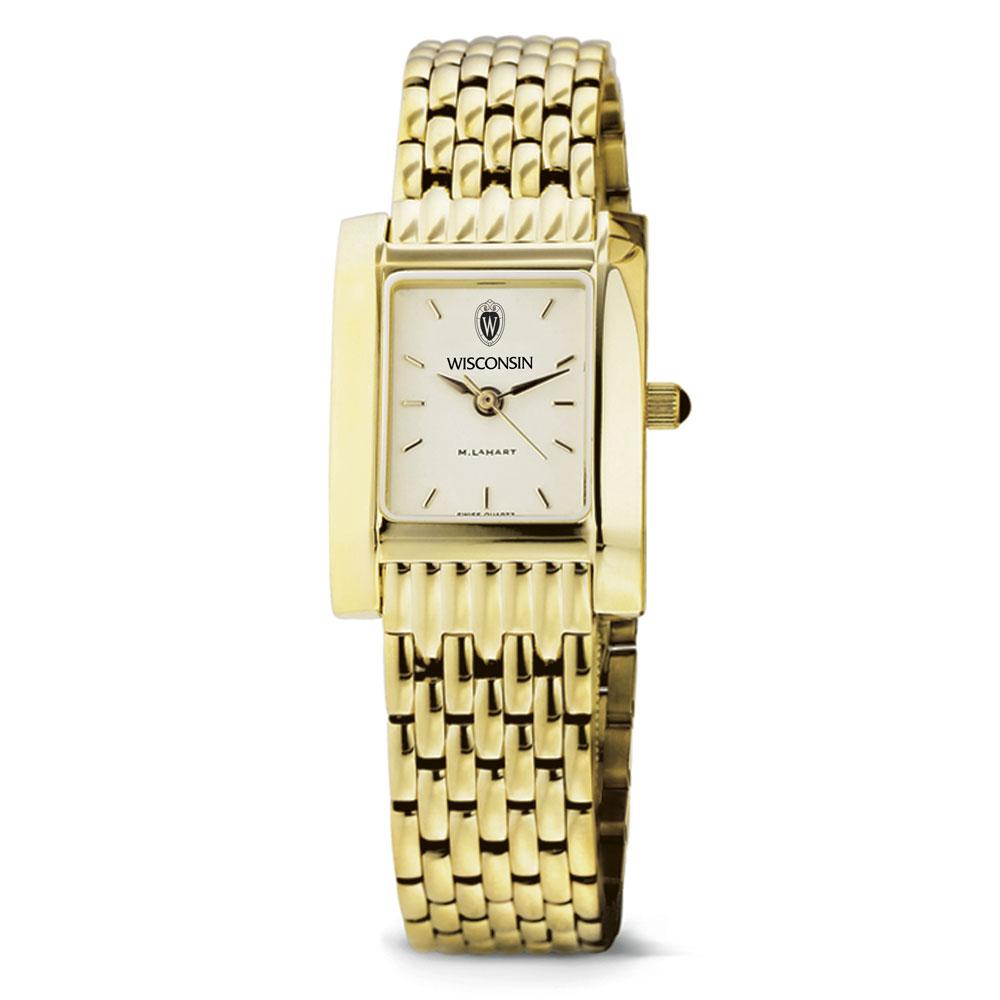Wisconsin Women's Gold Quad Watch with Bracelet - Image 2