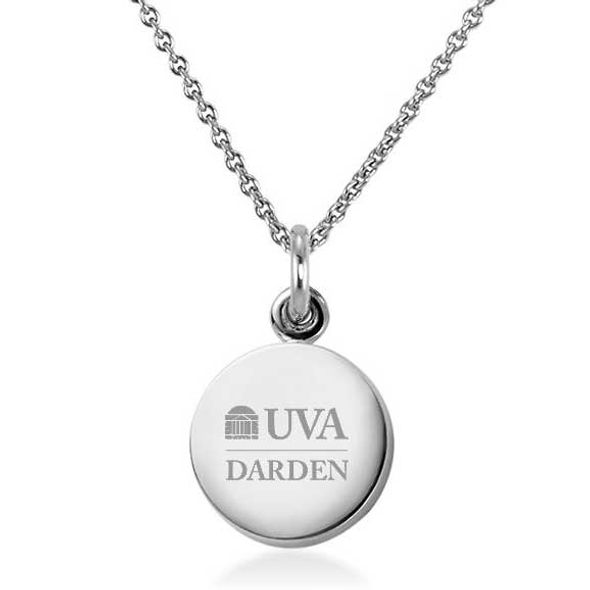 UVA Darden Necklace with Charm in Sterling Silver