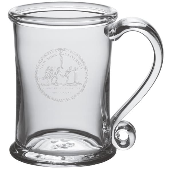 NYU Glass Tankard by Simon Pearce
