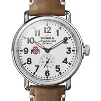 Ohio State Shinola Watch, The Runwell 41mm White Dial