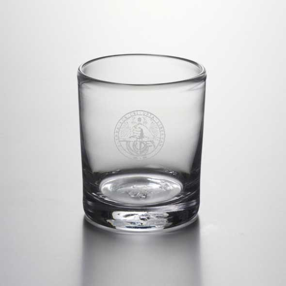 Davidson College Double Old Fashioned Glass by Simon Pearce
