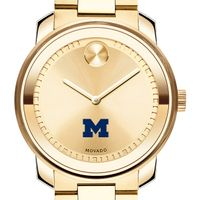 University of Michigan Men's Movado Gold Bold