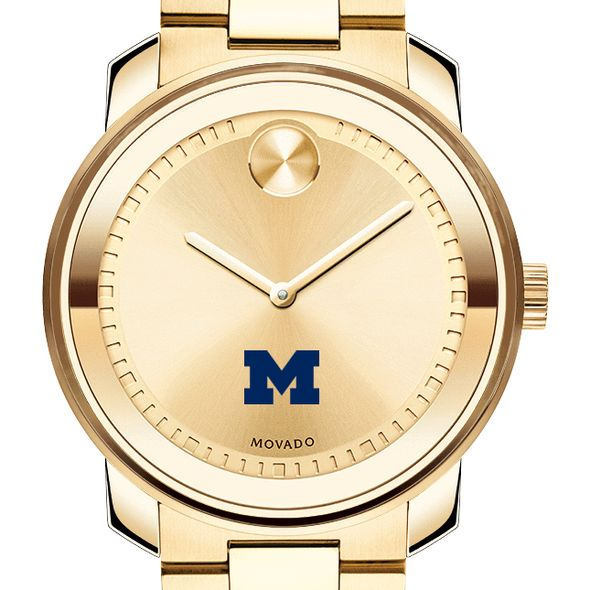 University of Michigan Men's Movado Gold Bold