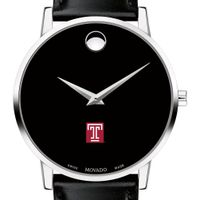 Temple Men's Movado Museum with Leather Strap