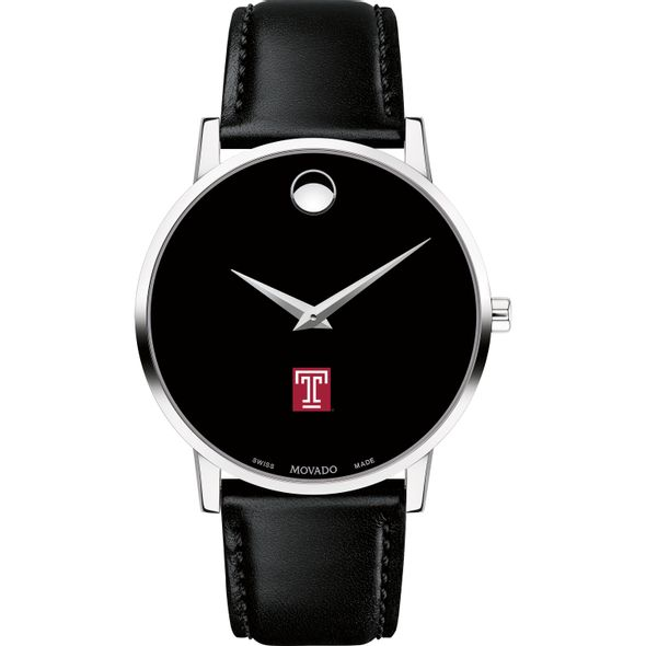 Temple Men's Movado Museum with Leather Strap - Image 2