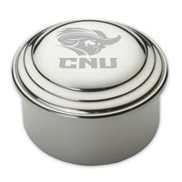 Christopher Newport University Pewter Keepsake Box