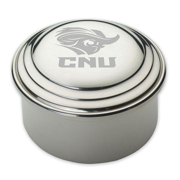 Christopher Newport University Pewter Keepsake Box