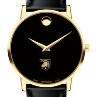 US Military Academy Men's Movado Gold Museum Classic Leather
