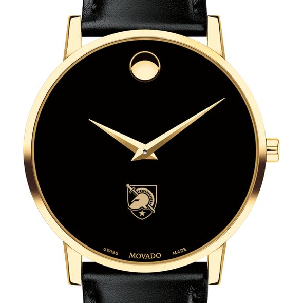 US Military Academy Men's Movado Gold Museum Classic Leather - Image 1