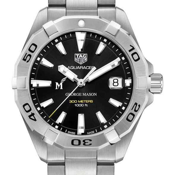George Mason University Men's TAG Heuer Steel Aquaracer with Black Dial
