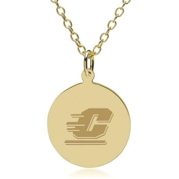 Central Michigan 14K Gold Pendant & Chain - Image 1