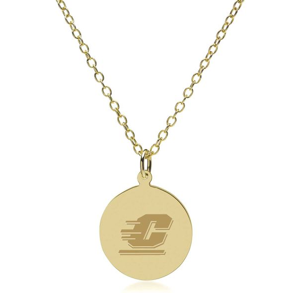 Central Michigan 14K Gold Pendant & Chain - Image 2