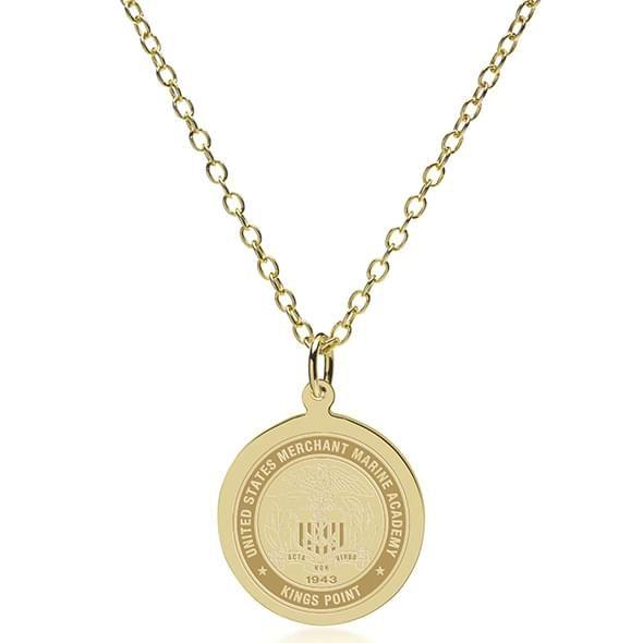 USMMA 14K Gold Pendant & Chain - Image 2
