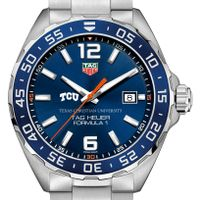 Texas Christian University Men's TAG Heuer Formula 1 with Blue Dial & Bezel