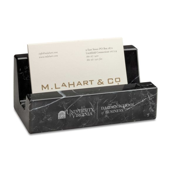 UVA Darden Marble Business Card Holder - Image 1