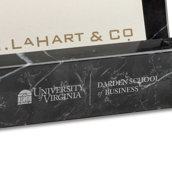 UVA Darden Marble Business Card Holder - Image 2