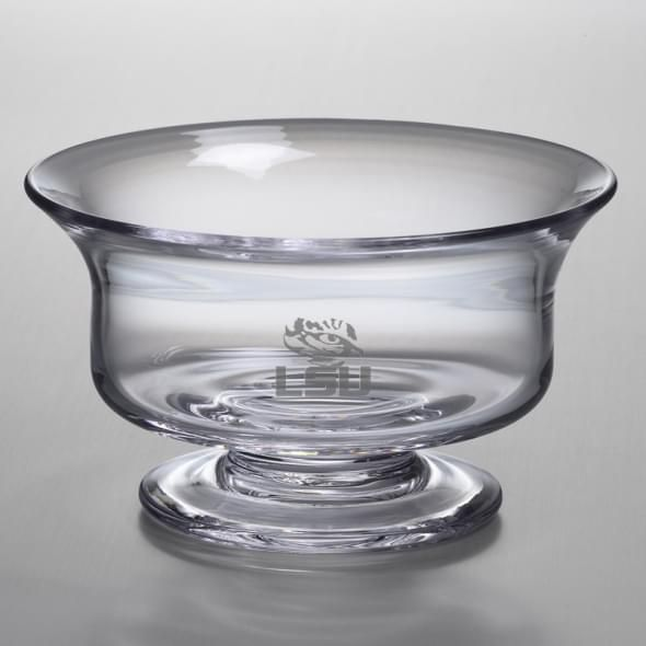 LSU Medium Glass Revere Bowl by Simon Pearce