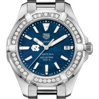 UNC Women's TAG Heuer 35mm Steel Aquaracer with Blue Dial